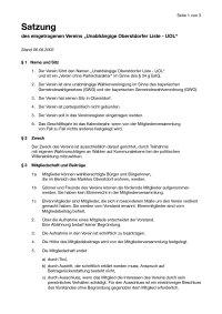 Satzung Unabhängige Oberstdorfer Liste