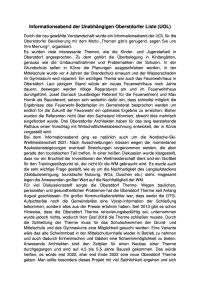 Pressemitteilung UOL Informationsabend am 1. August 2018