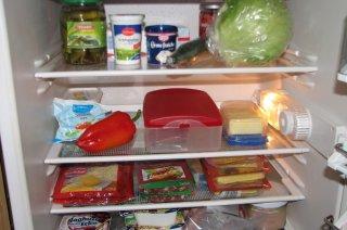 gefüllter Kühlschrank