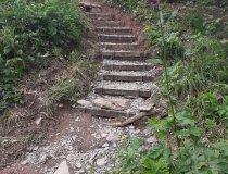 Sanierung Kappelle am Knie (Treppe)