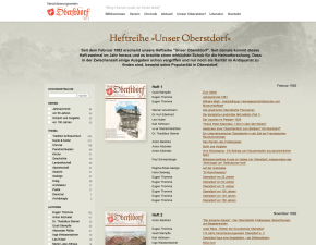 Screenshot Digitales Heftarchiv