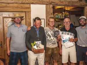 Netto A: 1. Thomas Mann (Mitte), 2. Richard Stowasser (links) und 3. Mathias von Heißen (rechts)