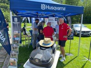 Infostand unseres Presenting-Sponsors Husqvarna
