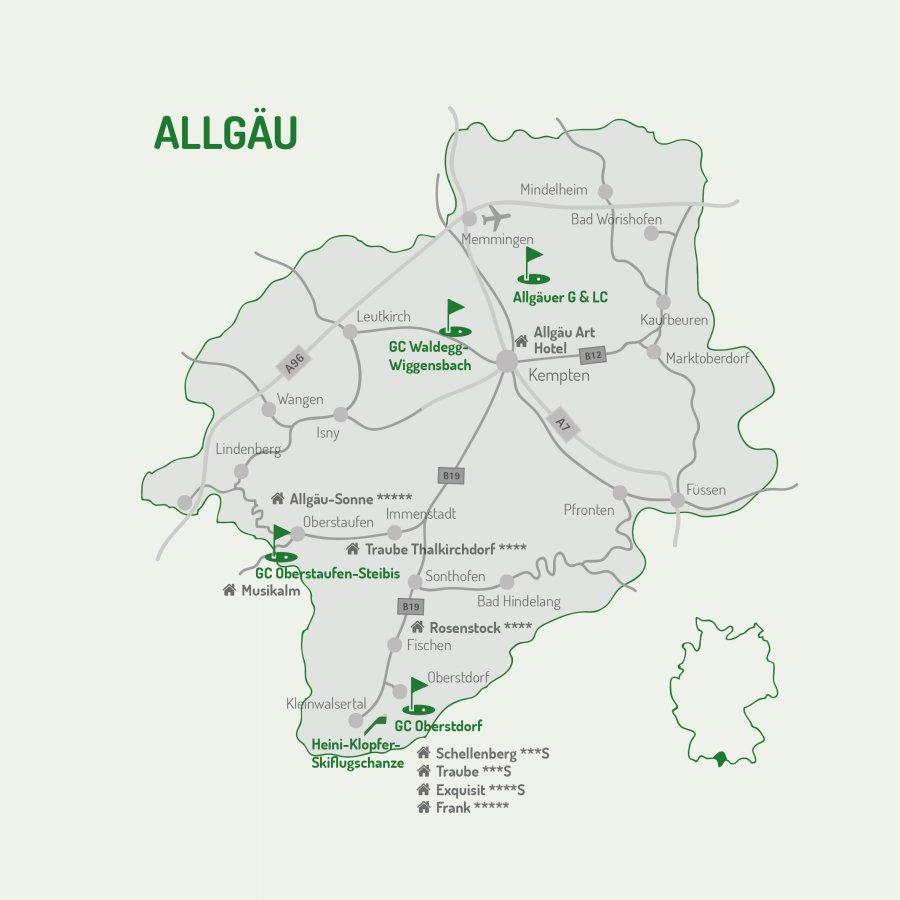 4 Plätze Tournee - Golfkarte Allgäu - Homepage Unterkünfte-01