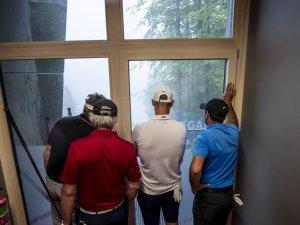 Enttäuschte Golfer: am Montagabend war kein Contest möglich
