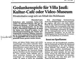Gedankenspiele für Villa Jauss