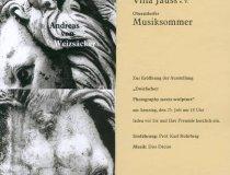 Einladung Ausstellung Andreas von Weizsäcker