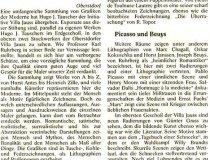 Ausstellung Hugo Tauscher - Artikel Allgäuer Zeitung