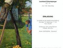Einladung Ausstellung Leonhard Eckertsperger