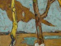 Friedrich Carl Rosen - Figur mit Bäumen