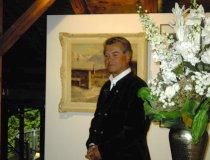 Arno Gabler bei Eröffnung der Ausstellung