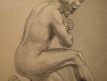 Joseph Anton Fischer: Mann betend