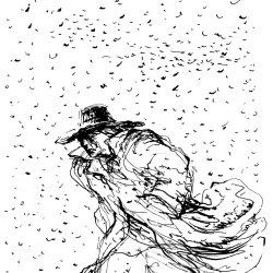 Gunter Böhmer, Mann im Schneegestöber