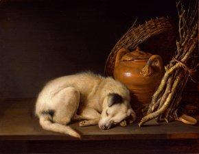 Gerard Dou, Schlafender Hund....