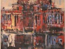 Horst Heilmann, Platz der Macht, 2015, Acryl, 99 x 89 cm [1310]