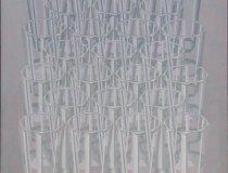 Nino Malfatti, 3 Gläser graublau
