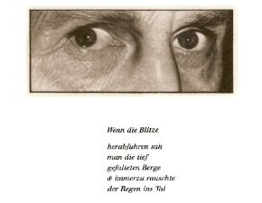 Jan Peter Tripp + W.G.Sebald, Wenn die Blitze