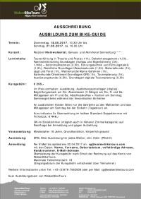 Ausschreibung Ausbildung zum Bike-Guide Frühjahr 2017 (1)