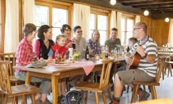 uriger Hüttenabend auf der Wannenkopfhütte