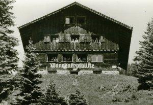 Alte Postkarte von der Wannenkopfhütte