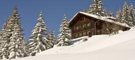 Winter auf der Wannenkopfhütte im Allgäu