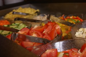 Leckere Salat zu jedem Hauptgang.