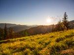 Alpenglühen auf den Wiesen vor der Wannenkopfhütte!