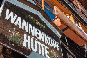 Schriftzug Wannenkopfhütte Ausschnitt