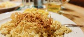 Traditionelle Kässpatzen aus dem Allgäu