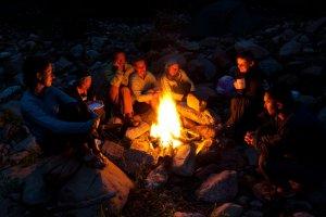 Lagerfeuer-Romantik vor der Wannenkopfhütte
