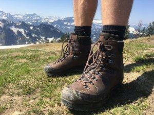 Bergschuhe müssen auf die Wannenkopfhütte mit