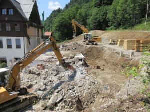Abbruch in Oberstdorf, Ortsteil Tiefenbach, August 2017