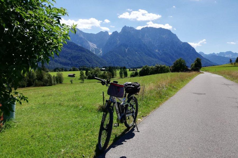 Berge und Fahrrad im Wellnesshof Blenk - 5 Sterne Ferienwohnungen in Wertach im Allgäu