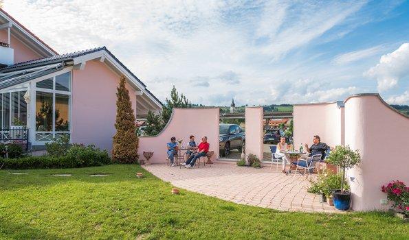 Eingangsbereich im Wellnesshof Blenk - 5 Sterne Ferienwohnungen in Wertach im Allgäu
