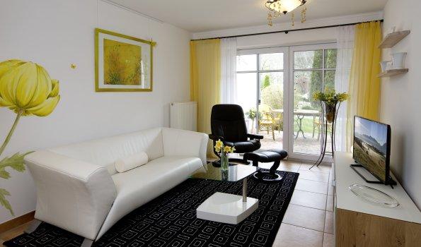 Bernstein Wohnzimmer - Wellnesshof Blenk - 5 Sterne Ferienwohnungen in Wertach im Allgäu