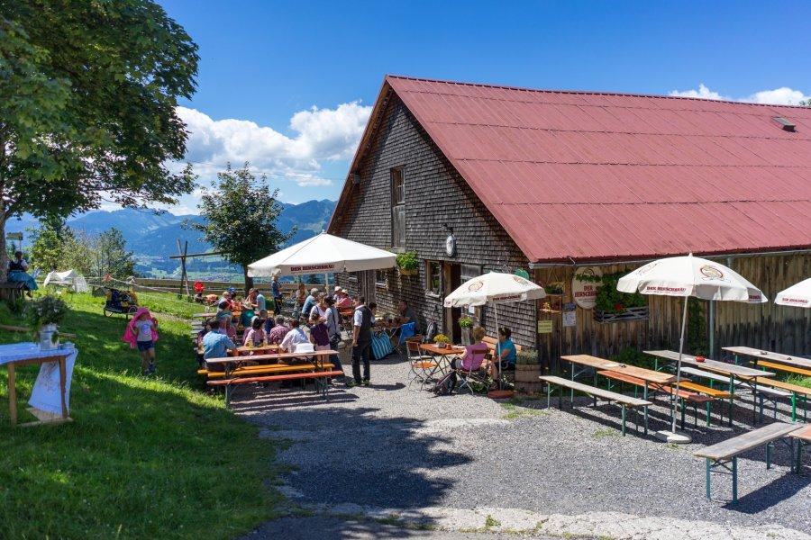 Sonnenterrasse auf einer Allgäuer Alpe - Wellnesshof Blenk - 5 Sterne Ferienwohnungen in Wertach im Allgäu