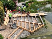 Umbauarbeiten an unserem Badesteg