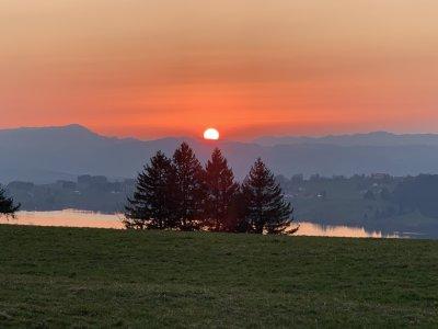 Sonnenuntergang Panoramaweg Mittelberg