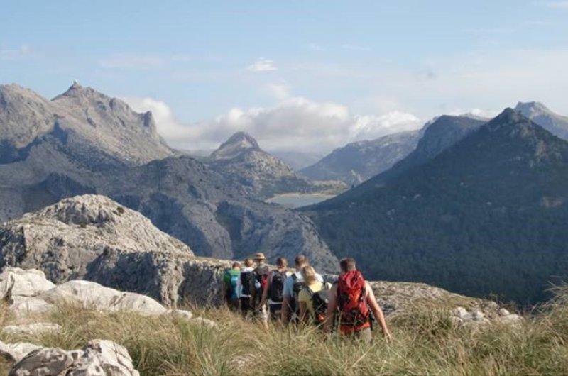 Mallorca - Gruppe bei Inseldurchquerung