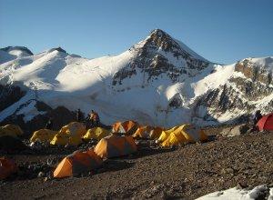 Blick vom Camp Berlin auf den Aconcagua