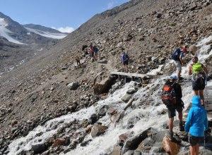 Aufstieg zur Similaunhütte über Bergbach