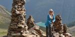 Steinmandel in beachtlicher Größe, Abstieg ins Schnalstal
