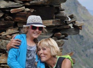 Generationen gemeinsam am Berg