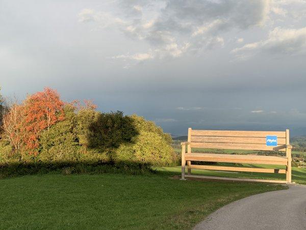 Wanderbank im Herbst