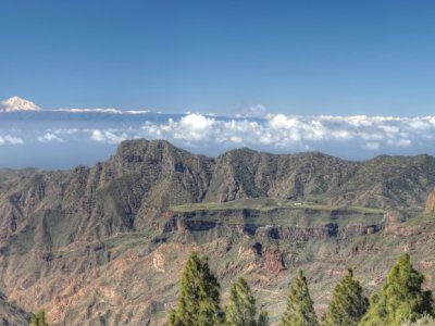 Panorama in die Berge Gran Canarias