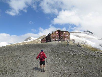 Oberwaldhütte in Sicht