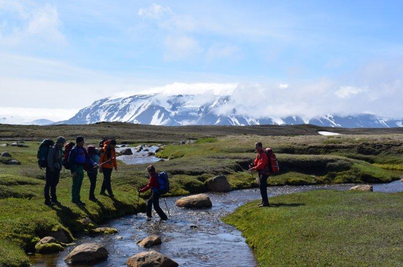 Island Flussüberquerung
