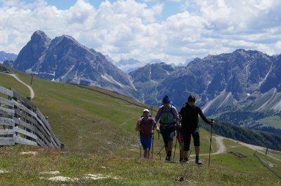 Am Plose mit Dolomiten