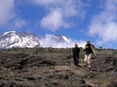 Descending towards Mweka Hut