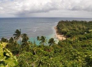 Blick auf den Südpazifik von Hawaii